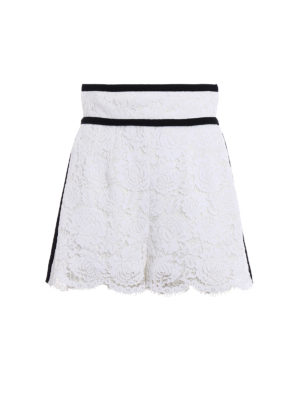 Philosophy di Lorenzo Serafini: Trousers Shorts - Romantic lace high-waisted shorts