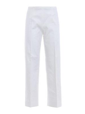 Piazza Sempione: casual trousers - Amandine wide crop trousers