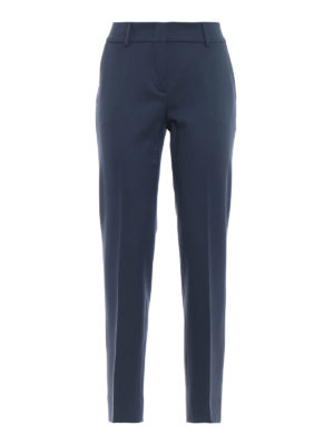 PIAZZA SEMPIONE: pantaloni casual - Pantaloni a sigaretta in misto lana blu