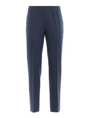 PIAZZA SEMPIONE: pantaloni casual - Pantaloni a sigaretta crop misto lana blu