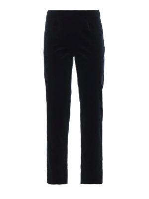 PIAZZA SEMPIONE: pantaloni casual - Pantaloni casual in velluto di cotone blu
