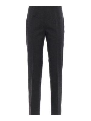 PIAZZA SEMPIONE: pantaloni casual - Pantaloni a sigaretta crop grigio scuro