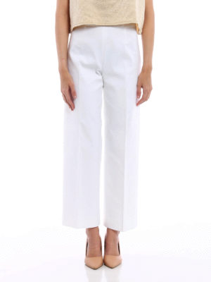 Piazza Sempione: casual trousers online - Amandine wide crop trousers