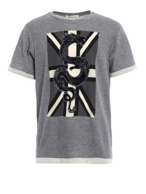 Pierre Balmain: t-shirts - Wool and cotton embroidered T-shirt