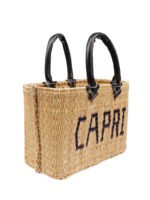 PINK MEMORIES: shopper online - Borsa in paglia Capri mini