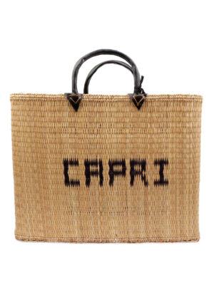 PINK MEMORIES: shopper - Shopper in paglia Capri