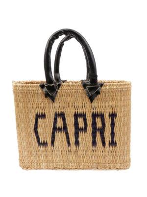 PINK MEMORIES: shopper - Borsa in paglia Capri mini