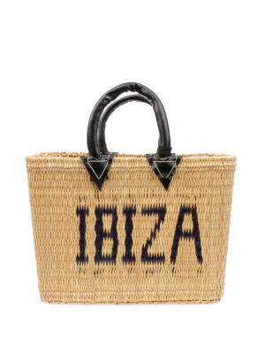 PINK MEMORIES: shopper - Borsa in paglia Ibiza mini