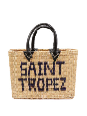 PINK MEMORIES: shopper - Borsa in paglia Saint Tropez mini