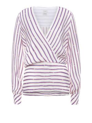 f560d3c7b6a5c Pinko  bluse - Blusa Colto a righe