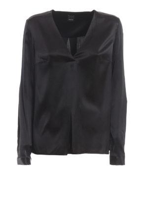 6c7e87c0a107d6 Pinko: bluse - Blusa Vendere in raso stretch di seta