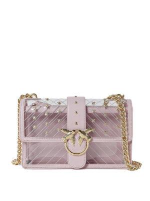 Pinko  borse a tracolla - Love Bag in PVC trasparente 7f0c8039dfe
