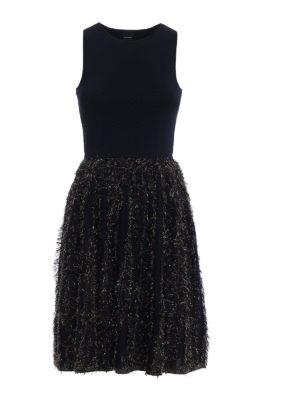 Pinko: knee length dresses - Nevis lamé insert dress