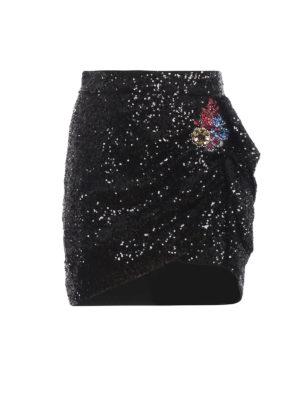 Pinko: mini skirts - Lucere sequin mini skirt