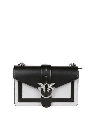 Pinko  borse a spalla - Borsa Love Bag in pelle bicolore 15356a9911b