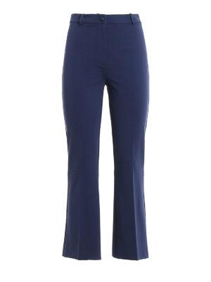 Womens Cady flared pants Blue, Victoria, Victoria Beckham Pants   Sojournalpix
