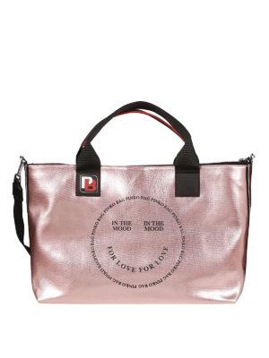 Pinko  shopper - Borsa in canvas cerato In The Mood for Love 99ec45dbc09