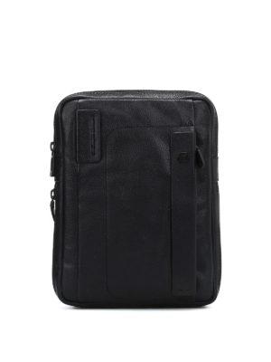 PIQUADRO: borse a tracolla - Borsa a tracolla porta iPad nera
