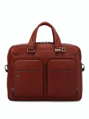 PIQUADRO: borse da ufficio - Borsa da computer in pelle pregiata
