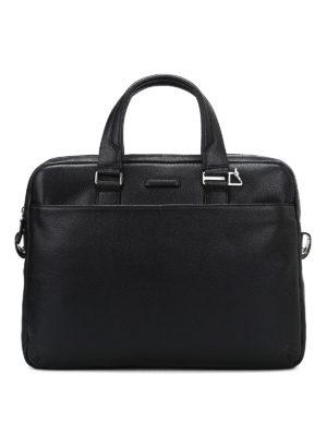PIQUADRO: borse da ufficio - Borsa da ufficio in pelle a grana