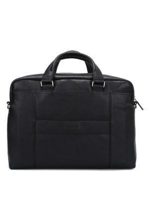 PIQUADRO: borse da ufficio - Borsa in morbida pelle a grana