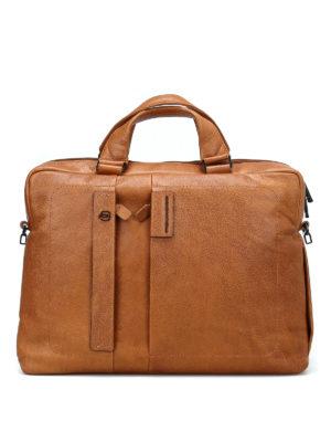 PIQUADRO: borse da ufficio - Cartella in pelle di vitello