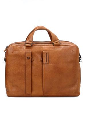 PIQUADRO: borse da ufficio - Cartella grande in pelle di vitello