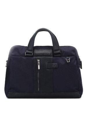 PIQUADRO: borse da ufficio - Borsa in tessuto impermeabile blu