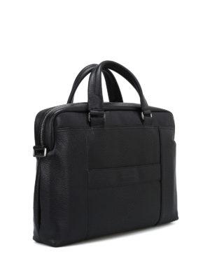 PIQUADRO: borse da ufficio online - Borsa in morbida pelle a grana