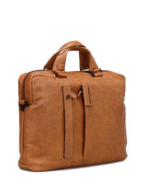 PIQUADRO: borse da ufficio online - Cartella in pelle di vitello