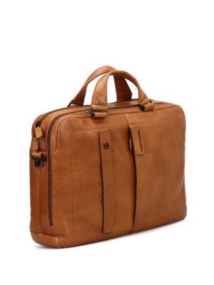 PIQUADRO: borse da ufficio online - Cartella grande in pelle di vitello