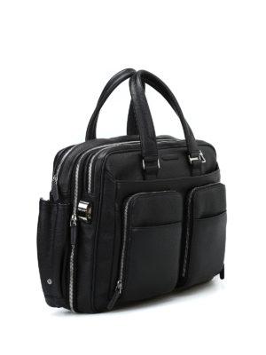 PIQUADRO: borse da ufficio online - Ventiquattrore nera in pelle