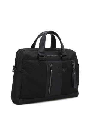 PIQUADRO: borse da ufficio online - Borsa in tessuto impermeabile nero