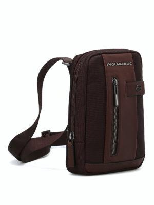 PIQUADRO: borse a spalla online - Piccolo borsello in tessuto e pelle