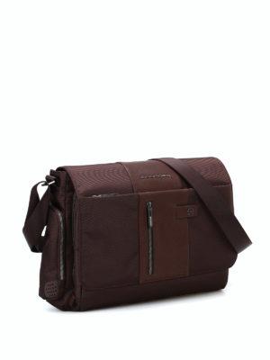 PIQUADRO: borse a spalla online - Messenger in tessuto e pelle
