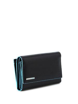 PIQUADRO: portafogli online - Portafoglio in pelle nera