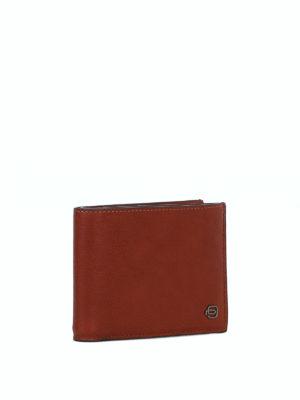 PIQUADRO: portafogli online - Portafoglio in pelle color cuoio