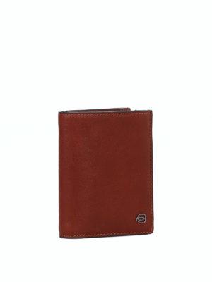 PIQUADRO: portafogli online - Portafoglio portamonete in cuoio