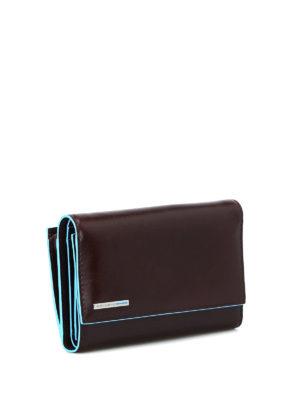 PIQUADRO: portafogli online - Portafoglio in pelle mogano
