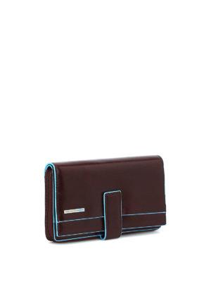 PIQUADRO: portafogli online - Portafoglio multi tasche mogano