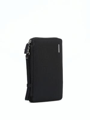 PIQUADRO: portafogli online - Portadocumenti nero con portafoglio