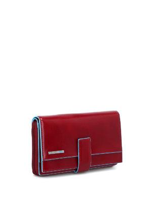 PIQUADRO: portafogli online - Portafoglio multi tasche rosso