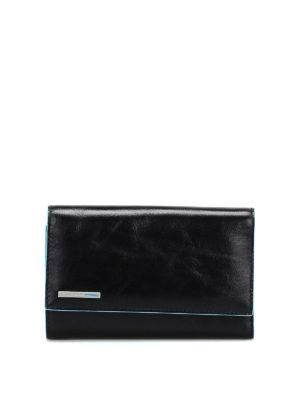 PIQUADRO: portafogli - Portafoglio in pelle nera