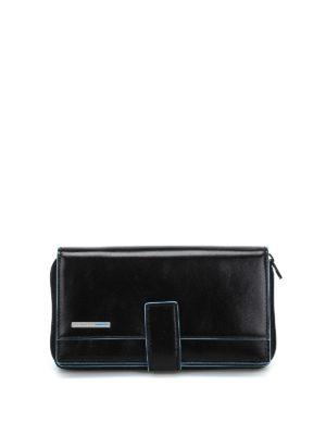 PIQUADRO: portafogli - Portafoglio multi tasche nero