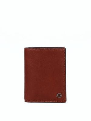 PIQUADRO: portafogli - Portafoglio portamonete in cuoio
