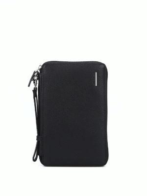PIQUADRO: portafogli - Portadocumenti nero con portafoglio