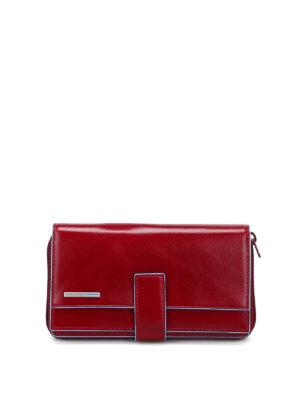 PIQUADRO: portafogli - Portafoglio multi tasche rosso