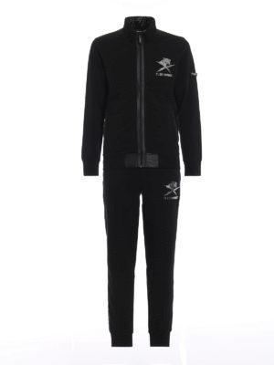 PLEIN SPORT: pantaloni sport - Tuta due pezzi Black Tiger