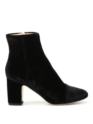 Polly Plume: ankle boots - Ally black velvet ankle boots