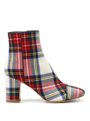 Polly Plume: ankle boots - Ally tartan booties